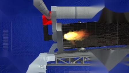 人杰专利滚筒烟气回收燃烧沥青搅拌站动画
