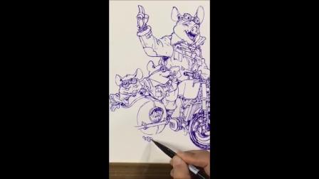 金政基Kim Jung Gi - Drawing + Studio Tour- 2019pig