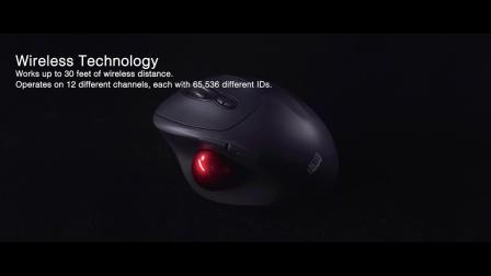 Adesso iMouse T30 Wireless Programmable Ergonomic Trackball Mouse