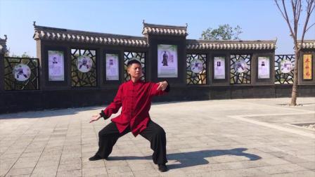 杨建平老师演示老年二十六式(背面)陈式太极拳