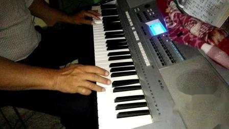 电子琴演奏〈〈红星照我去战斗〉〉