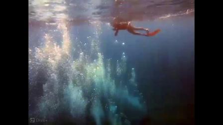 難得自己被拍(自由潛水freediving)