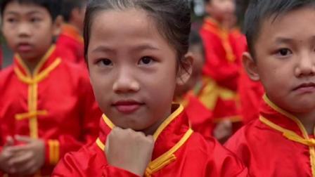 天桃小学72个武术学子的笑脸,武术进校园系列一