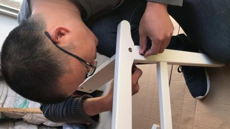 实木凳面椅安装视频