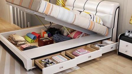 传说中的可床可柜!可比优居真皮高箱床