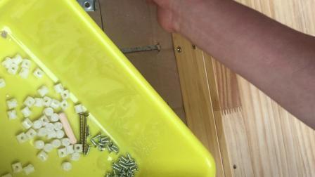 120S推拉门书柜安装视频2