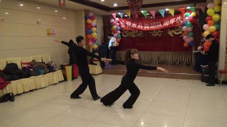 2018年12月16日,李爱莲表演慢四舞《女儿情》