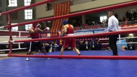 马雨男拳击俱乐部--王勇1回合 201812青岛拳击公开赛