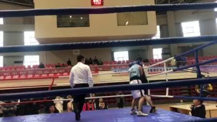马雨男拳击俱乐部--徐立杰2回合 201812青岛拳击公开赛