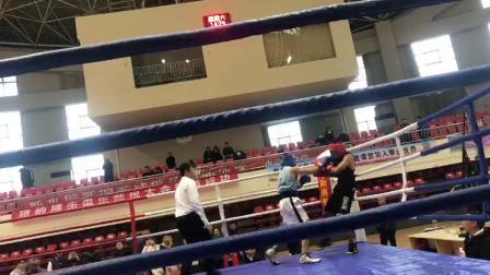 马雨男拳击俱乐部--徐立杰3回合tko获胜 201812青岛拳击公开赛