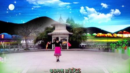 蒙古筷子舞《草原的月亮》演唱云飞、编舞李冀雪正背面演绎舞痴、摄像老七、制作新疆花儿