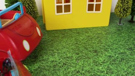 小猪佩奇的新玩具马车骑士玩具过家家