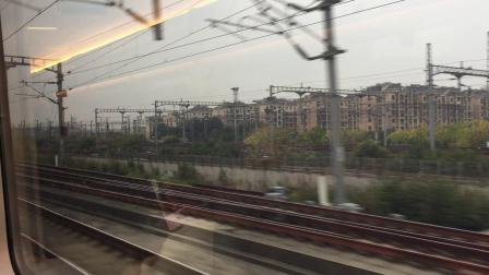 杭黄首日 D9553次列车通过杭州南站