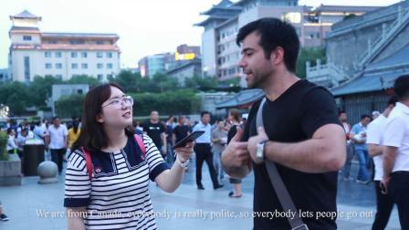 老外眼里的中国 街访