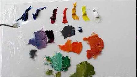 油画教程,怎样做色彩混合_标清
