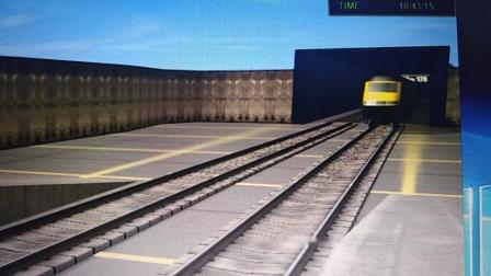 《模拟火车12》英国城际列车模拟南京地铁一号线出天隆寺站。
