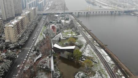 20181231 在空中看了下雪