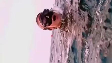 辮子姑娘2 #黃金碳纖長蛙真的很美  #自由潛水 #墾丁godiving趣潛水