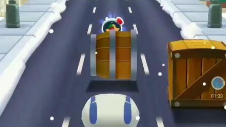 汤姆猫跑酷巴巴车_麦克飞弹小朋友