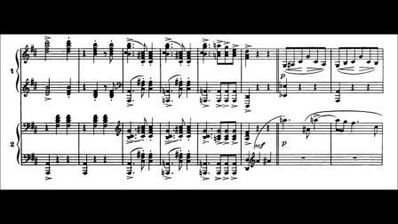 拉威尔《圆舞曲(双钢琴版)》 阿格里奇与弗莱雷演奏  带乐谱