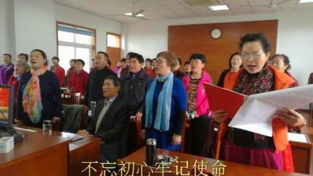 平湖市老年大学越一班课堂练唱自创编越歌一新时代 新篇章