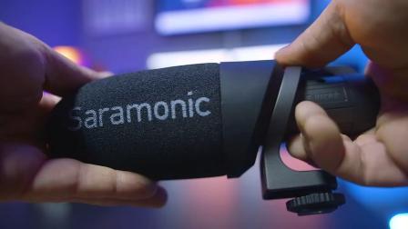 这是一款相机手机通用的麦克风 全新 枫笛Saramonic CamMic+