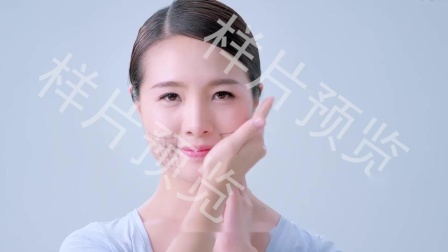 美女化妆品洗化广告V形脸脸部面部塑形美容按摩方法教程视频素材样片