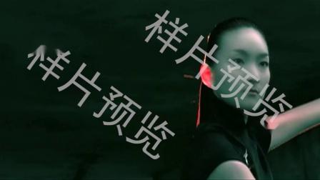 马尾辫美女练武京剧演员练功武术中国传统艺术文化精气神视频素材样片