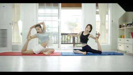韩国yan星 瑜伽功底也是杠杠的