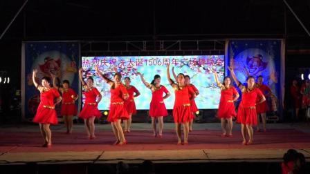热烈祝贺冼太诞1506周年广场舞晚会--金塘居委第一舞蹈队(今夜的你和谁约会)