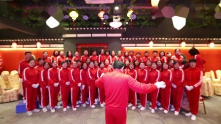 湖口县佳木斯快乐健身操队大合唱:《没有共产党就没有新中国》《三大纪律 八项注意》