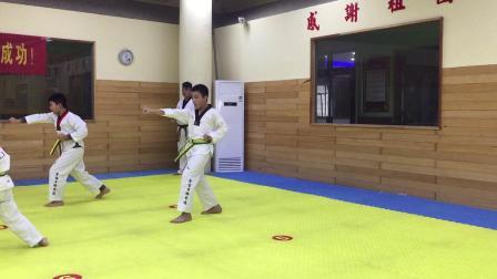2019年王左宪考跆拳道绿带片段二