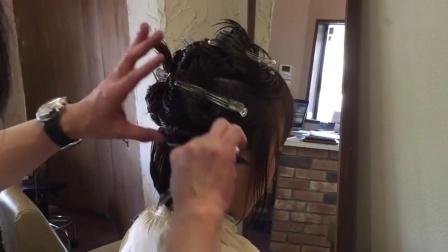 波波头发型的层次修剪教程_超清