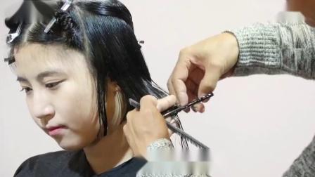 长发如何剪一款自然甜美的短发发型, 供发型师学习_超清