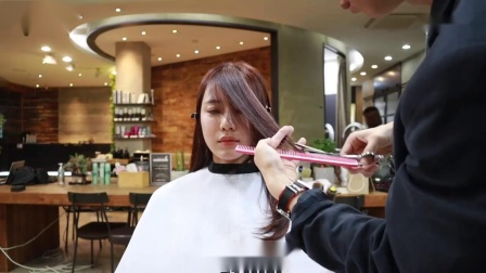 长刘海, 龙须刘海的修剪与造型, 供美发参考_超清