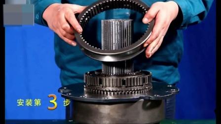 重汽HW变速箱维修视频之副箱的装配上