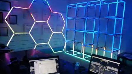 LED视频条+MADRIX(麦爵士)灯光音乐控制效果