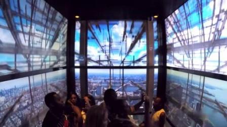 CAVE投影——电梯时间线_One World Observatory at World Trade Center - Elevator Ride