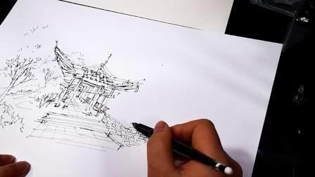 建筑水彩1