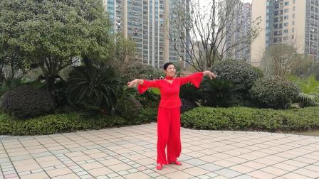 桃舞久红广场舞《我的祝福你听见了吗》编舞;世外桃源