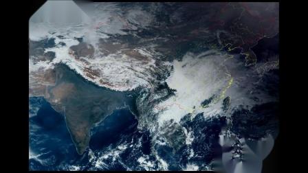 2019年1月FY-4A卫星云图