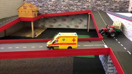 救护车紧急救援工人