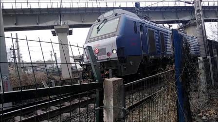 火车视频2019年春运天津南仓枢纽拍车