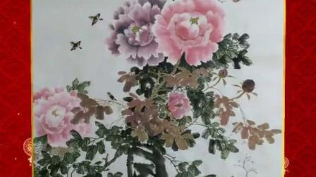 新年艺术花瓶