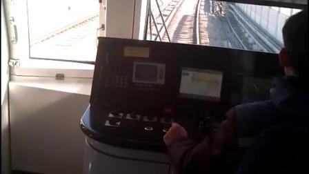 天津地铁一号线财经大学到双林区间地面路段驾驶舱视角(103编组)