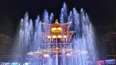 崇州唐人街彩色喷泉VID_20190205_193720