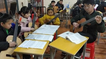 五莲县阿明吉他教室古典吉他四重奏《平安夜》