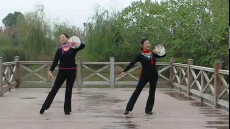 双人团扇舞蹈《江南桃花女》演唱许岚岚、编舞网络老师、演绎金梅、舞痴