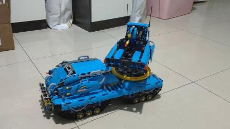乐高科技moc-蓝色战车