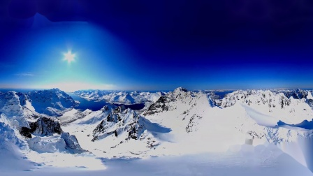 乘滑翔伞在挪威滑雪VR视频